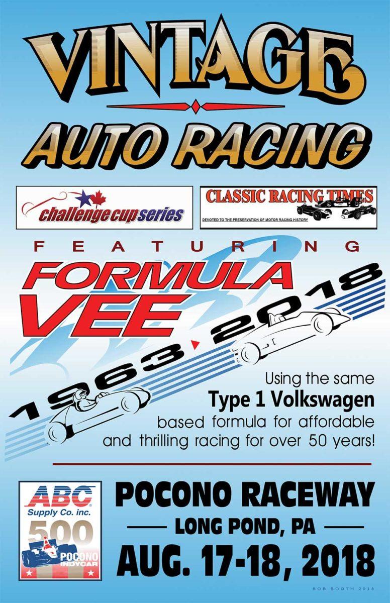 2018 Pocono IndyCar Event Poster - Formula Vee